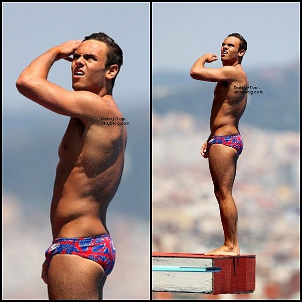 21.07.2013 - Tom a été vu lors de la compétition du 10M Synchro Hommes.