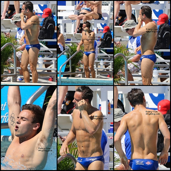 08.05.2013 - Tom se trouvait a la piscine de son hotel.
