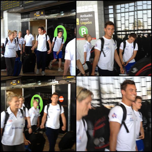 18.07.2013 - Tom sortant de l'entrainement a Barcelone.