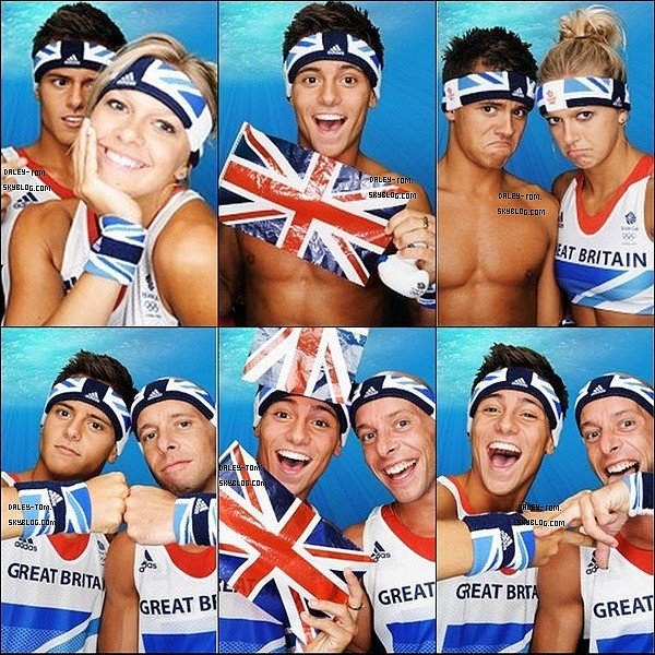 Découvre ou redécouvre un photoshoot de Tom pour les JO de 2012 avec Tonia Couch et Peter Waterfield.
