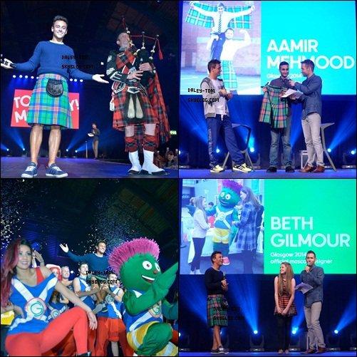 09.09.2013 - Tom était a Glasgow. Il est l'ambassadeur des XX° jeux des Commonwealth (PARTIE 2)