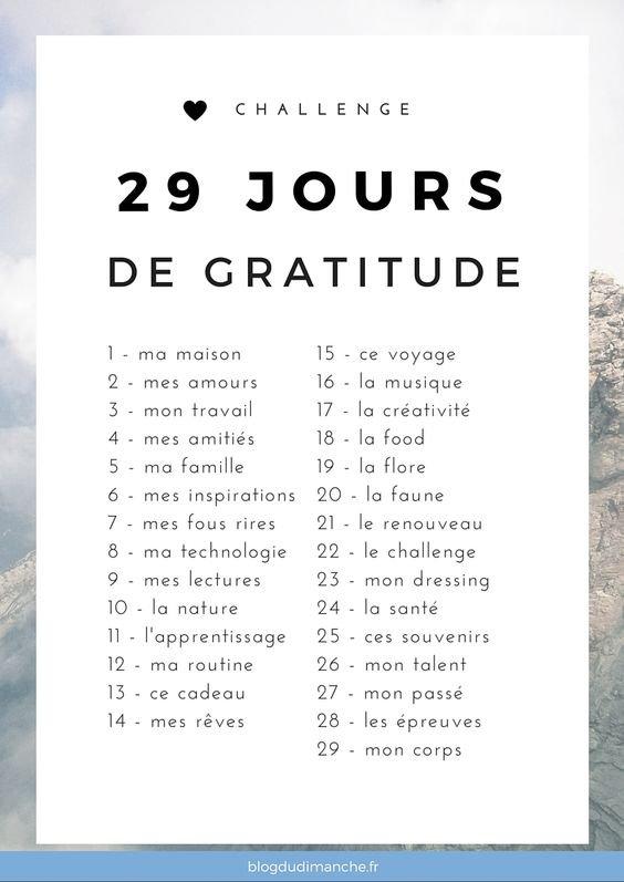 ~29 JOURS DE GRATITUDES~