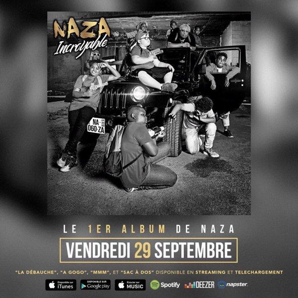 "Ca y est l'album de mon ndeko naza ""incroyable"" sera dispo le 29 septembre hein ouais c'est bon"
