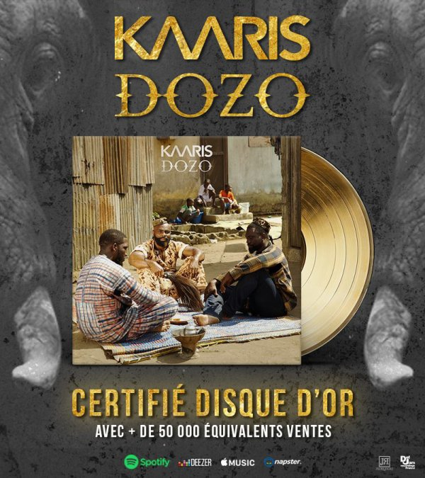 Ca y est l'album de mon dozo Kaaris est enfin certifié disque d'or