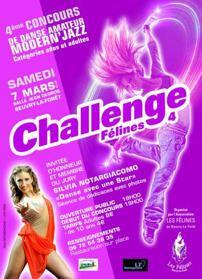 "4e CONCOURS REGIONAL DE DANSE AMATEUR MODERN'JAZZ ""CHALLENGE FELINES"""