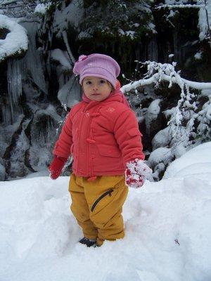 maria, dans la neige