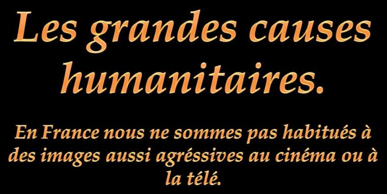 LES GRANDES CAUSES HUMANITAIRES
