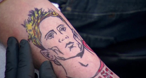 This is the man, Torres tattoo on tattoo