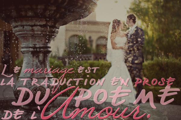 « Mariage pluvieux, Mariage heureux. »Proverbe français