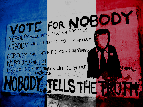 « Élections, piège à cons. »Slogan de Mai 1968