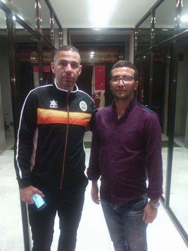 Avec le manager zafour