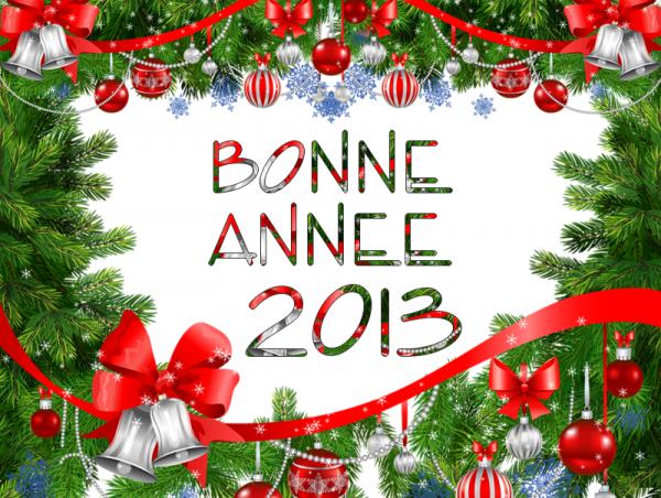 bonne anée 2013 gros bisous