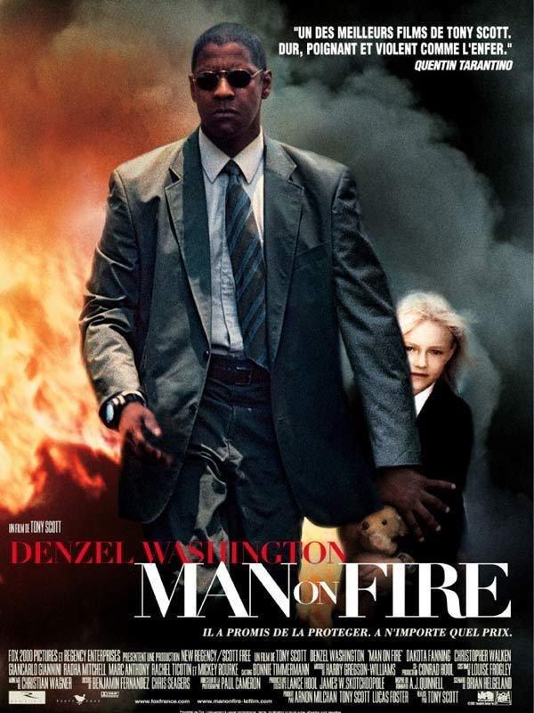 Man on fire.