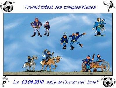 Tournoi futsal des tuniques bleues le 03.04.2010.