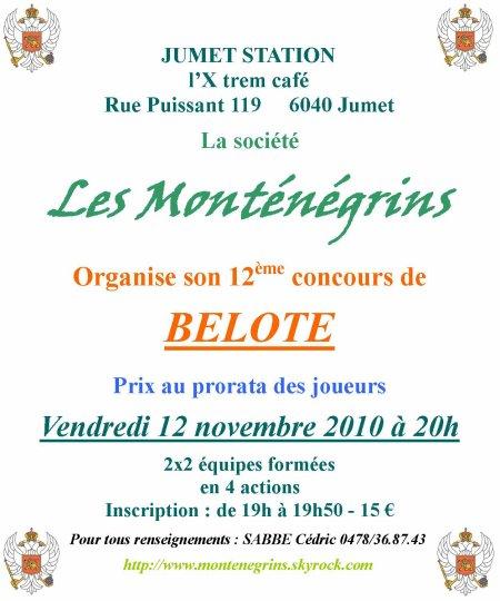 Concours de belote du 12.11.2010
