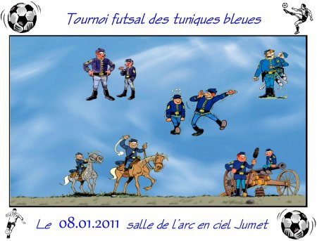 Tournoi futsal des tuniques bleues le 08.01.2011.