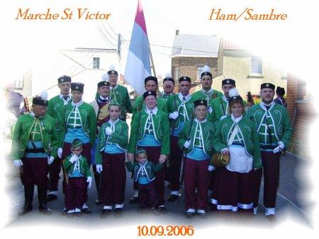 Marche St Victor à Ham/Sambre le 10.09.2006.