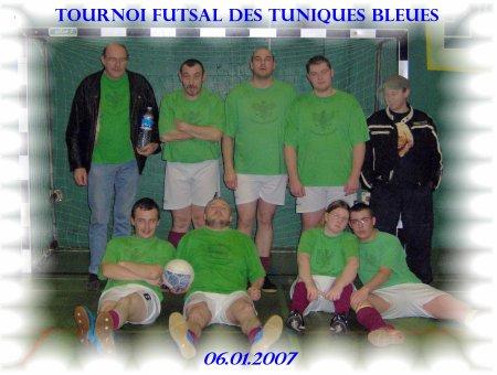 Turnois futsal Tuniques bleues du 06.01.2007.