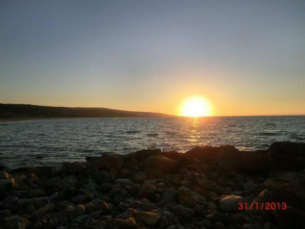 couchez  de soleil a hadjadj plage le 30/01/2013