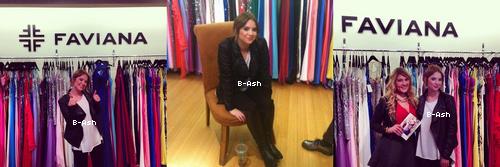 01/03 - Ashley était dans les bureaux de Faviana
