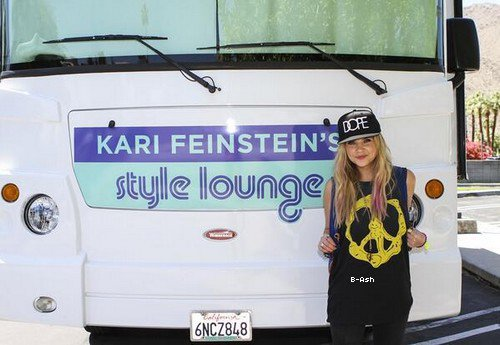 14/04 - Ashley était au salon du style de Kari Feinstein