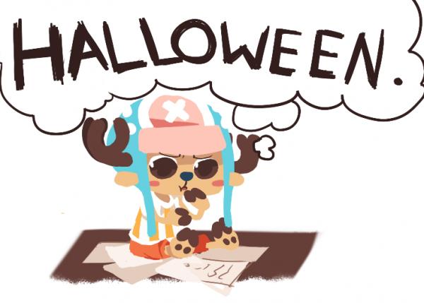 """"""" OAAAH ! Ah non , c'est pas encore vraiment Halloween..! """" #Chopper"""