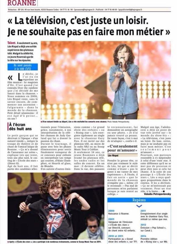 Léo dans la presse !!!!