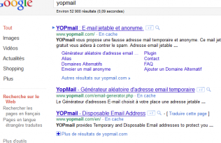 email poubelle