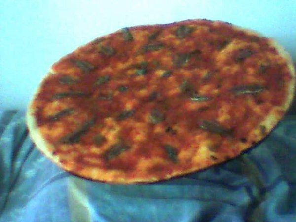 j'ai fait une pizza à l'anchois