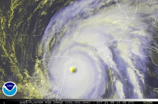 Wilma le plus puissant cyclone de toute l'histoire dans l'atlantique