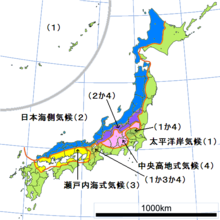 le japon sont climat