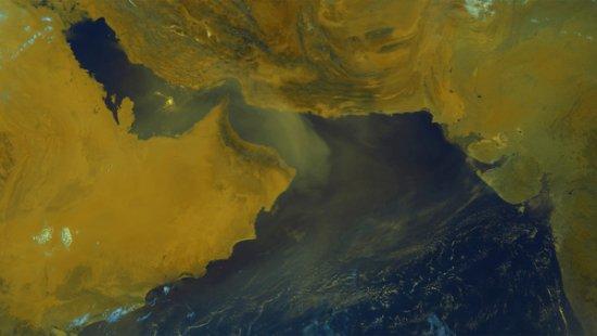 Vent de sable dans le Golf Persique