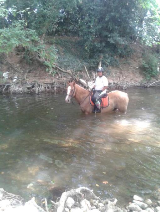 Karamel et moi a la rivière