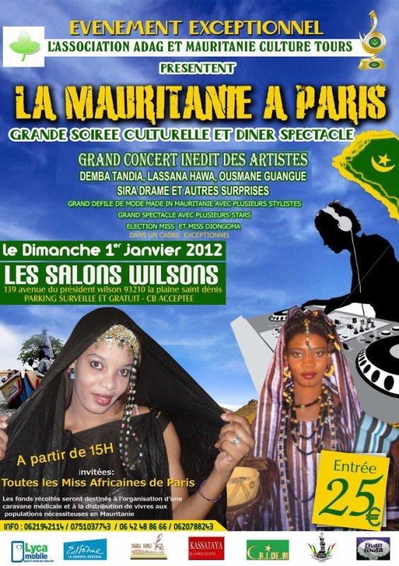 LA MAURITANIE LORS DE LA SOIREE CULTURELLE JANVIER 2012
