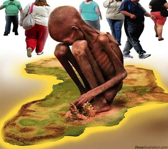 LA FAMINE EN AFRIQUE.