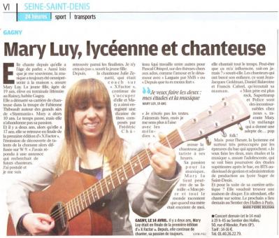 Actu' de Mary Luy