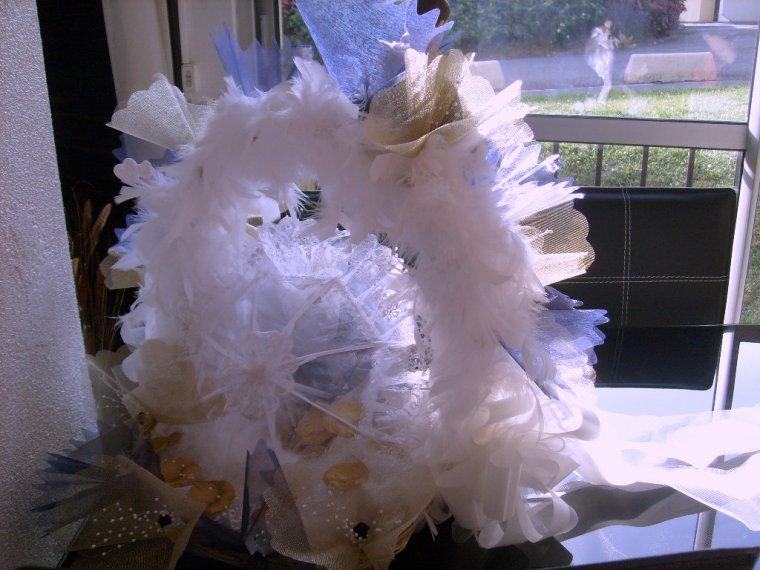 Le dos du panier des mariés( Création fait main)