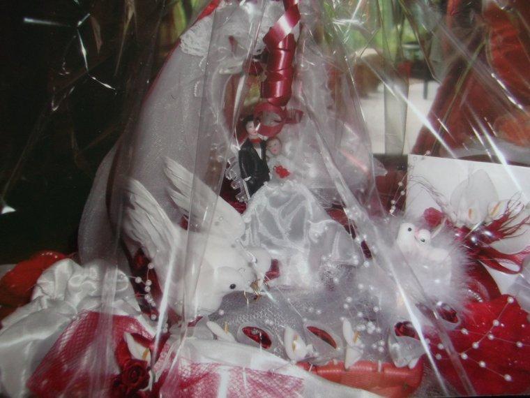 Panier mariage pret à livrer au couleurs du choix des mariés