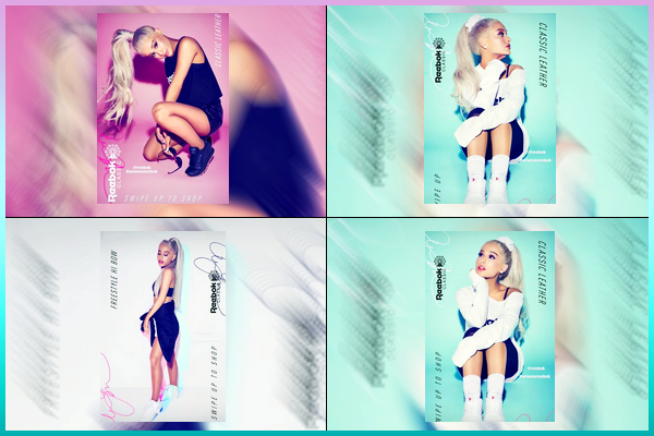 Découvrez des nouvelles photo pour la marque « Reebok » de Ariana Grande