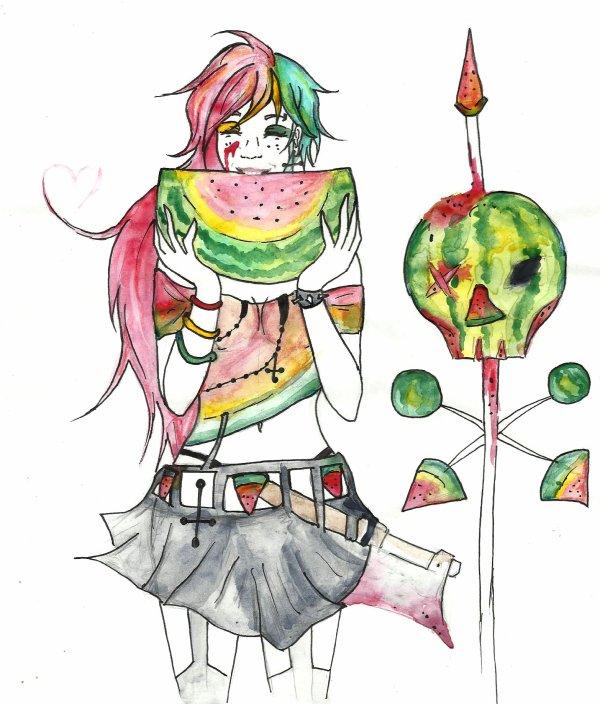 murder of watermelon :p  - concours de carooolina