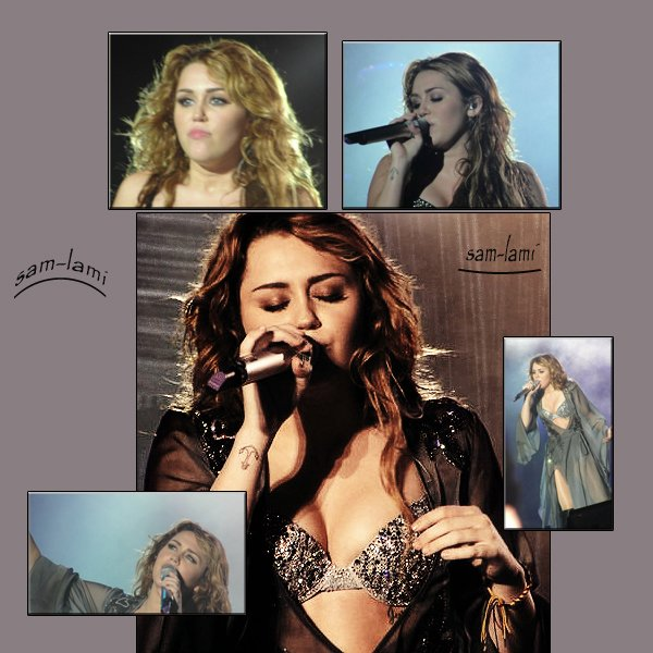 miley at Gypsy Heart Tour