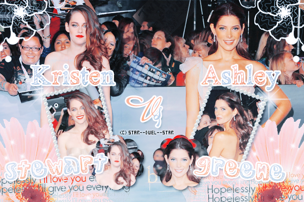 ♥Kristen Stewart VS Ashley Greene ♥Création : Sambe01