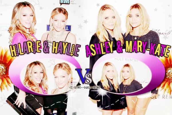 ♥Haylie et Hilary Duff VS Ashley et Mary-Kate Olsen ♥Création : Great-Arrow
