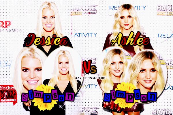 ♥Jessica Simpson VS Ashlee Simpson ♥Création : Great-Arrow