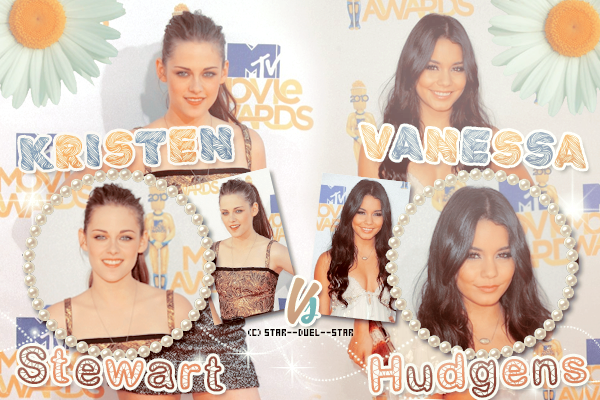 ♥Kristen Stewart VS Vanessa Hudgens ♥Création : Great-Arrow