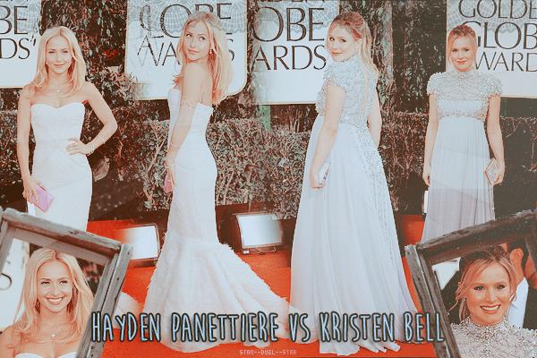 ♥Hayden Panettiere VS Kristen Bell ♥Création : TeensWolfs