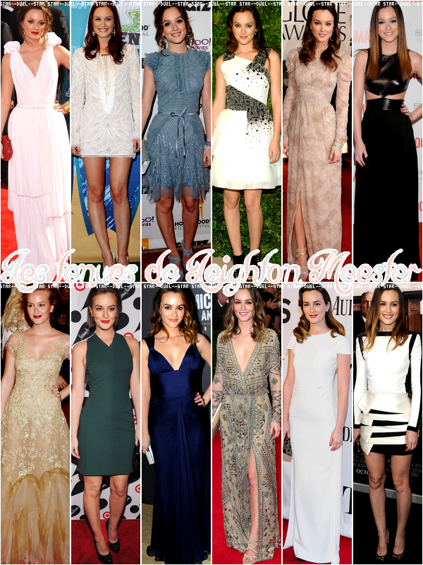 ♥VS Tenues Leighton Meester ♥Création : Star--Duel--Star