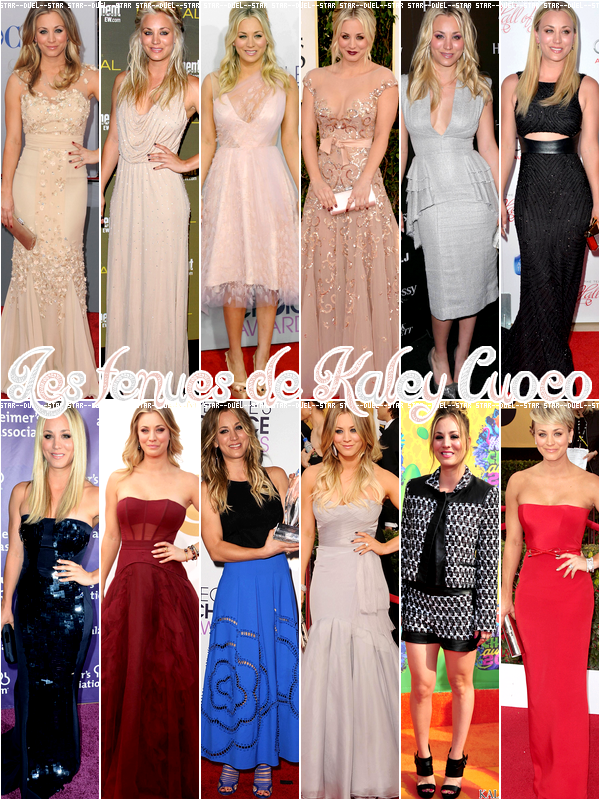♥VS Tenues Kaley Cuoco ♥Création : Star--Duel--Star