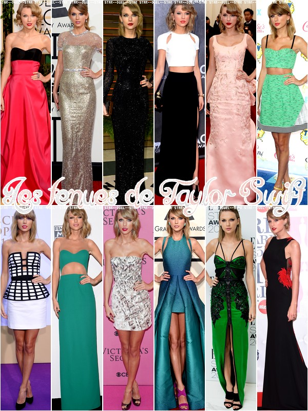 ♥VS Tenues Taylor Swift ♥Création : Star--Duel--Star