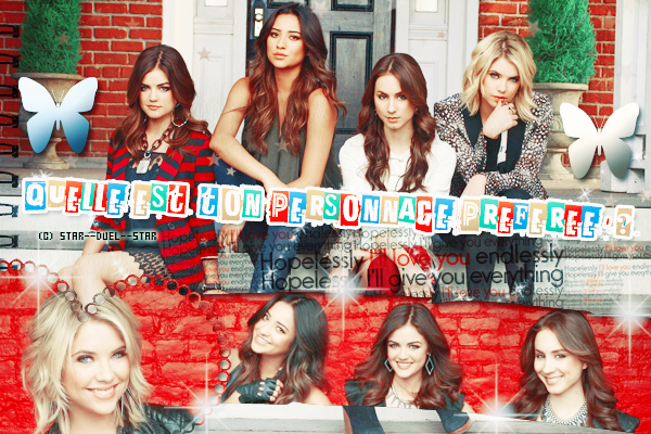 ♥VS Personnages Pretty Little Liars ♥Création : Sambe01